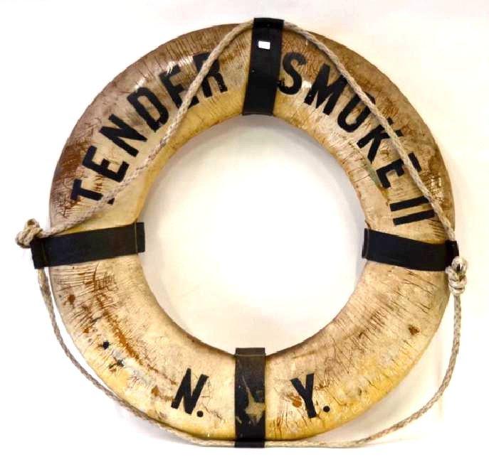Vintage Life Preserver Tender Smoke NY