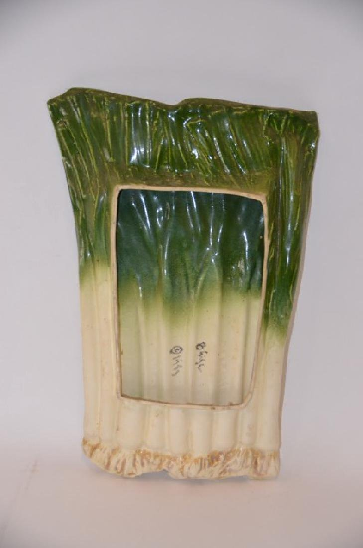 Unique Studio  Pottery Leeks  Dish - 3