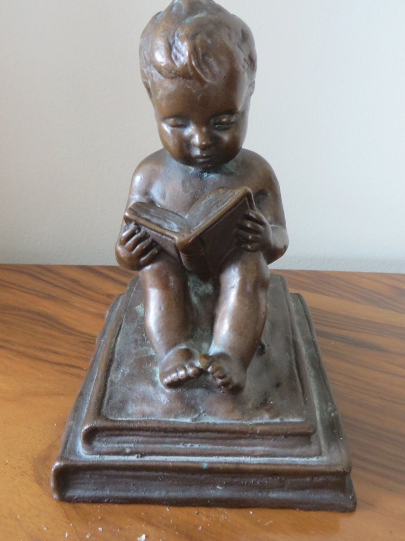 Bronzed Figure of a Cherub