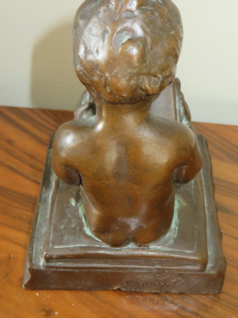 Bronzed Figure of a Cherub - 3