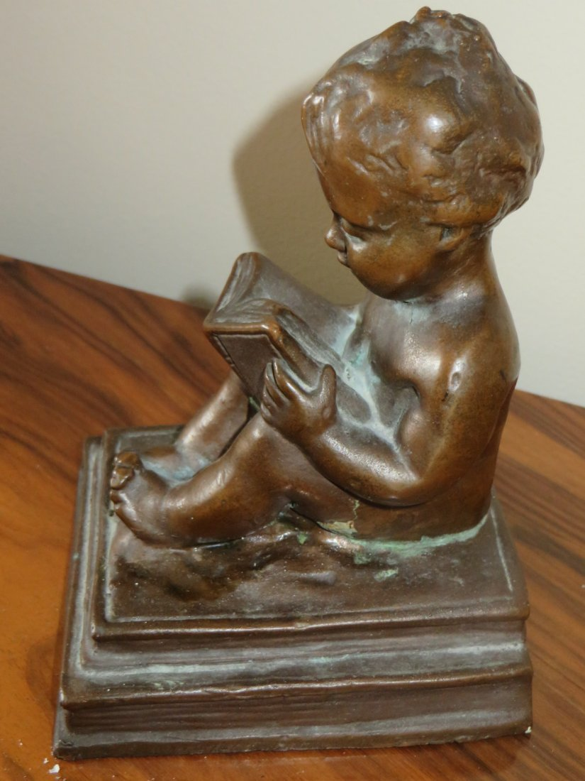 Bronzed Figure of a Cherub - 4