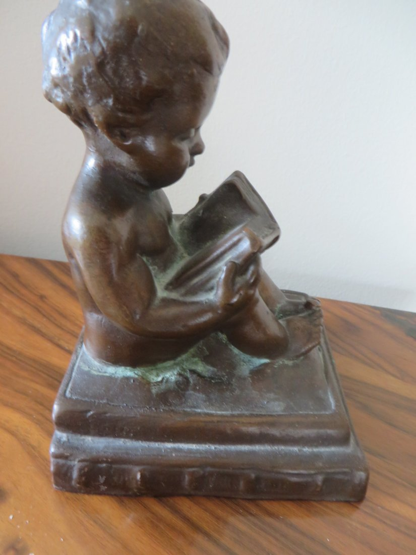 Bronzed Figure of a Cherub - 7