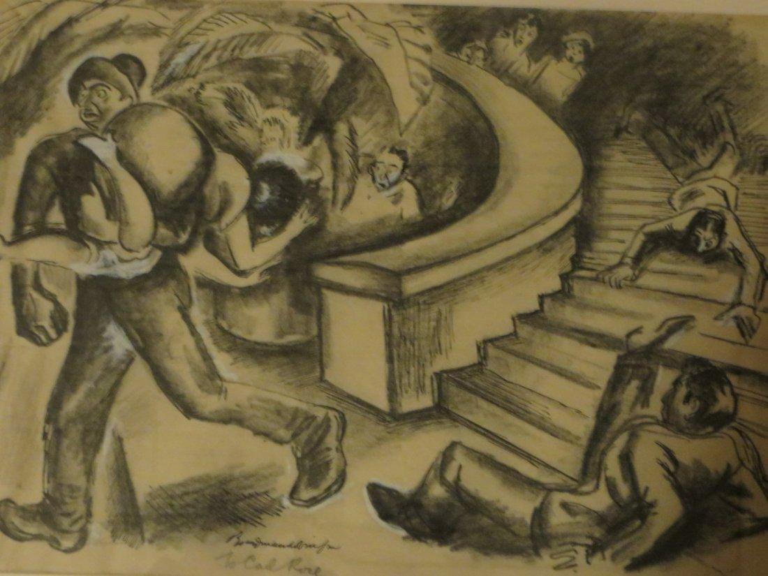 Boardman. Gouache Illustration. Sgd.