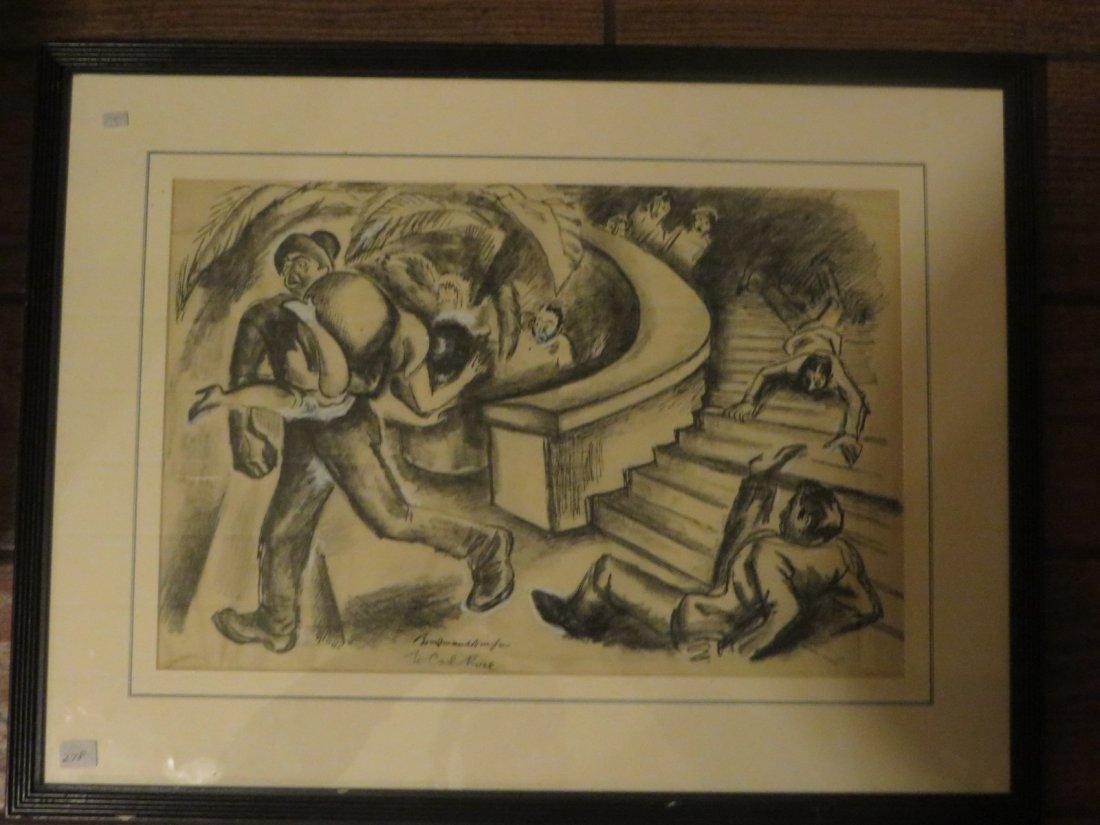 Boardman. Gouache Illustration. Sgd. - 2