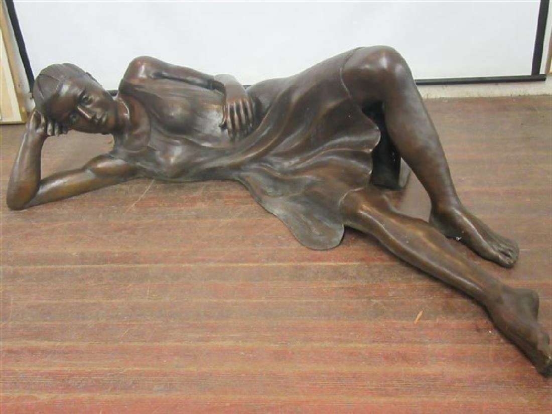 Gordon Dunn. Life Size Bronze. Girl