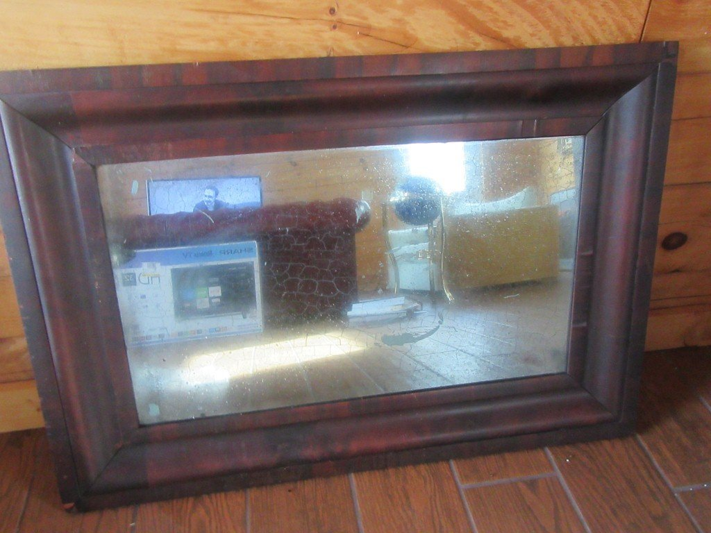 19th C. American Mahogany Ogee Mirror