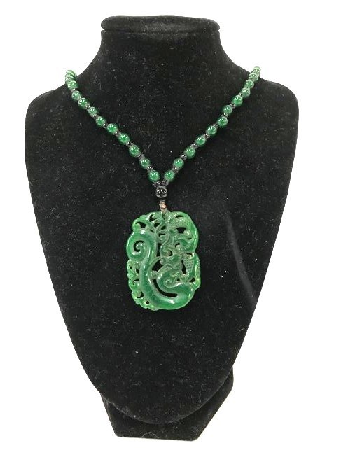 Chinese Jade Necklace and Pendant