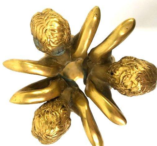 Pr. Art Deco Gilded Figures with Jasper Spheres - 3