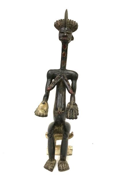 Carved African Figure on Stool
