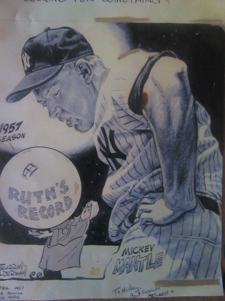 M. Olderman Mickey Mantle Cartoon