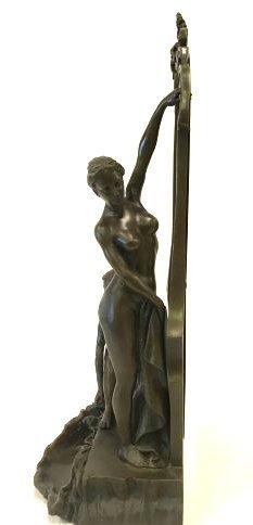 Art Nouveau Bronze Mirror - 4