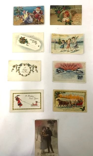 Antique Christmas and New Year  Postcards (17) - 3