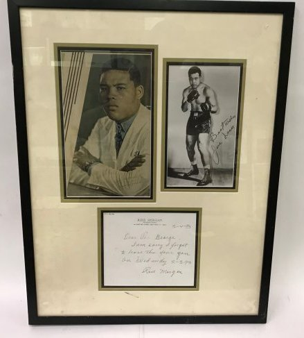 Joe Louis Photographs Signed