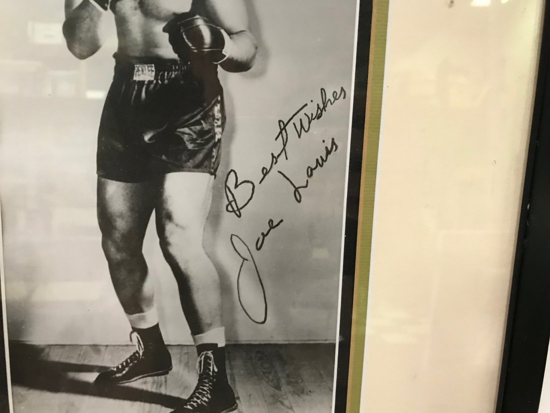 Joe Louis Photographs Signed - 2