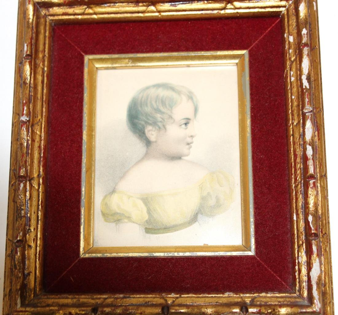 19th C. Porcelain Plaque Young Girl