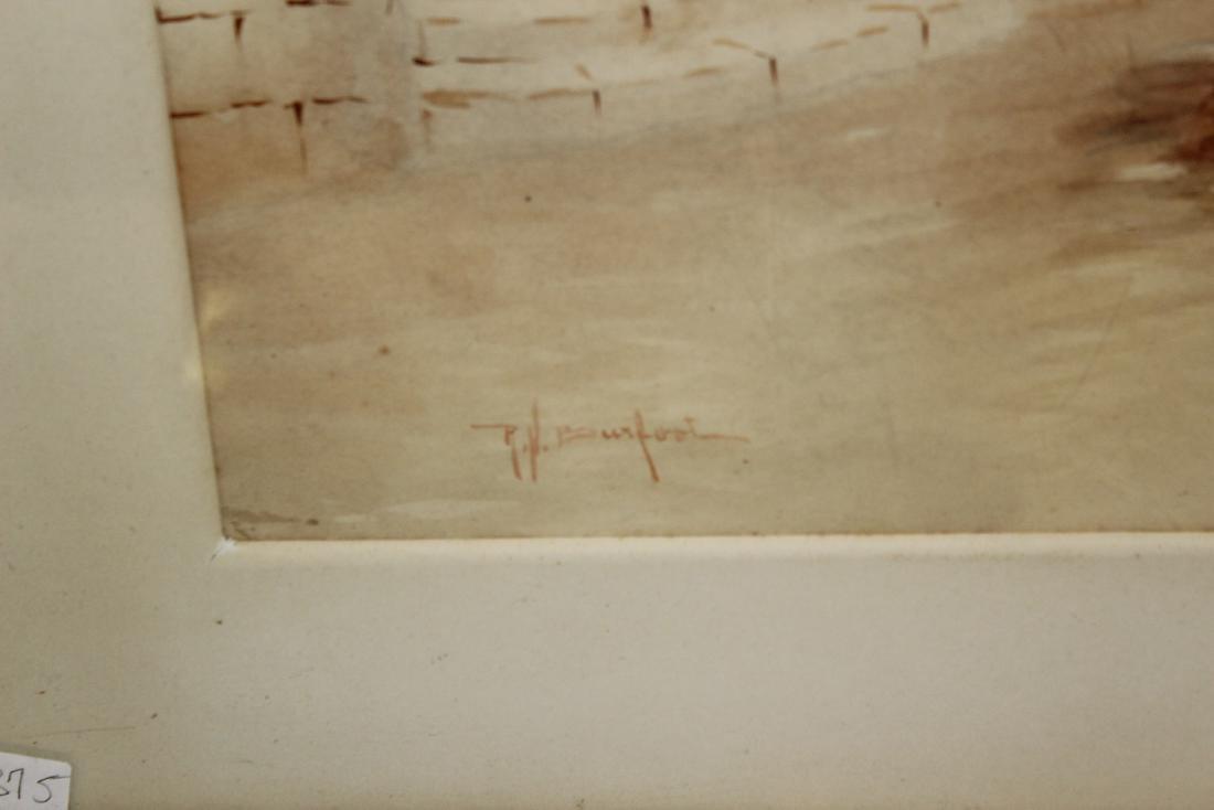 R. H. Burfoot. Watercolor. Venetian Scene. Signed - 3