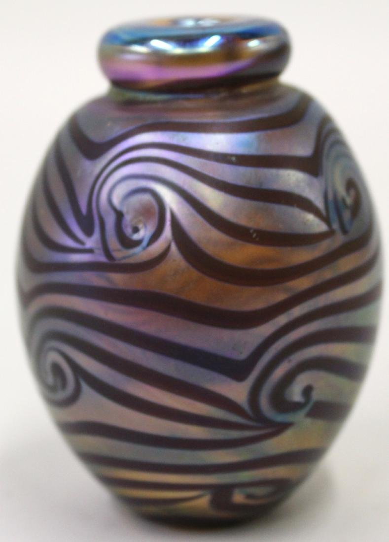 Iridescent Art Glass Vase.