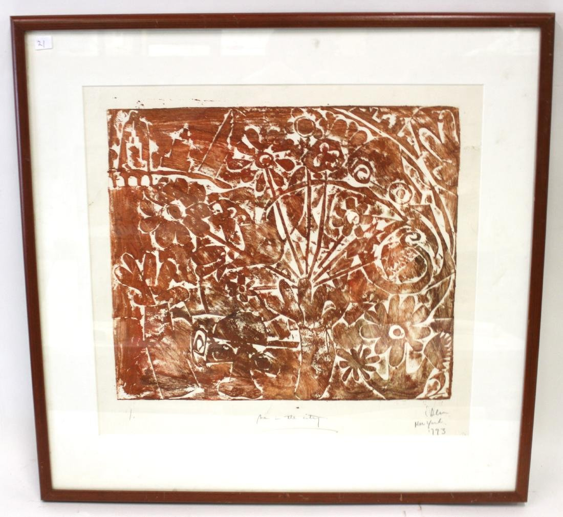 """Ltd. Ed. Lithograph. """"Man in the City"""" Signed"""