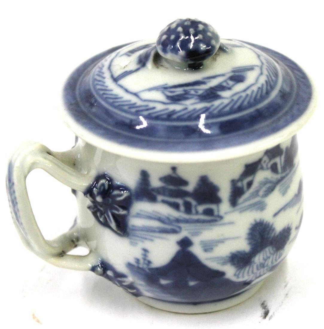 18th C. Canton Covered Cup