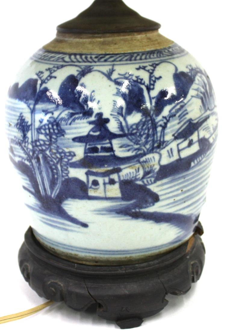 Chinese Canton Table Lamp
