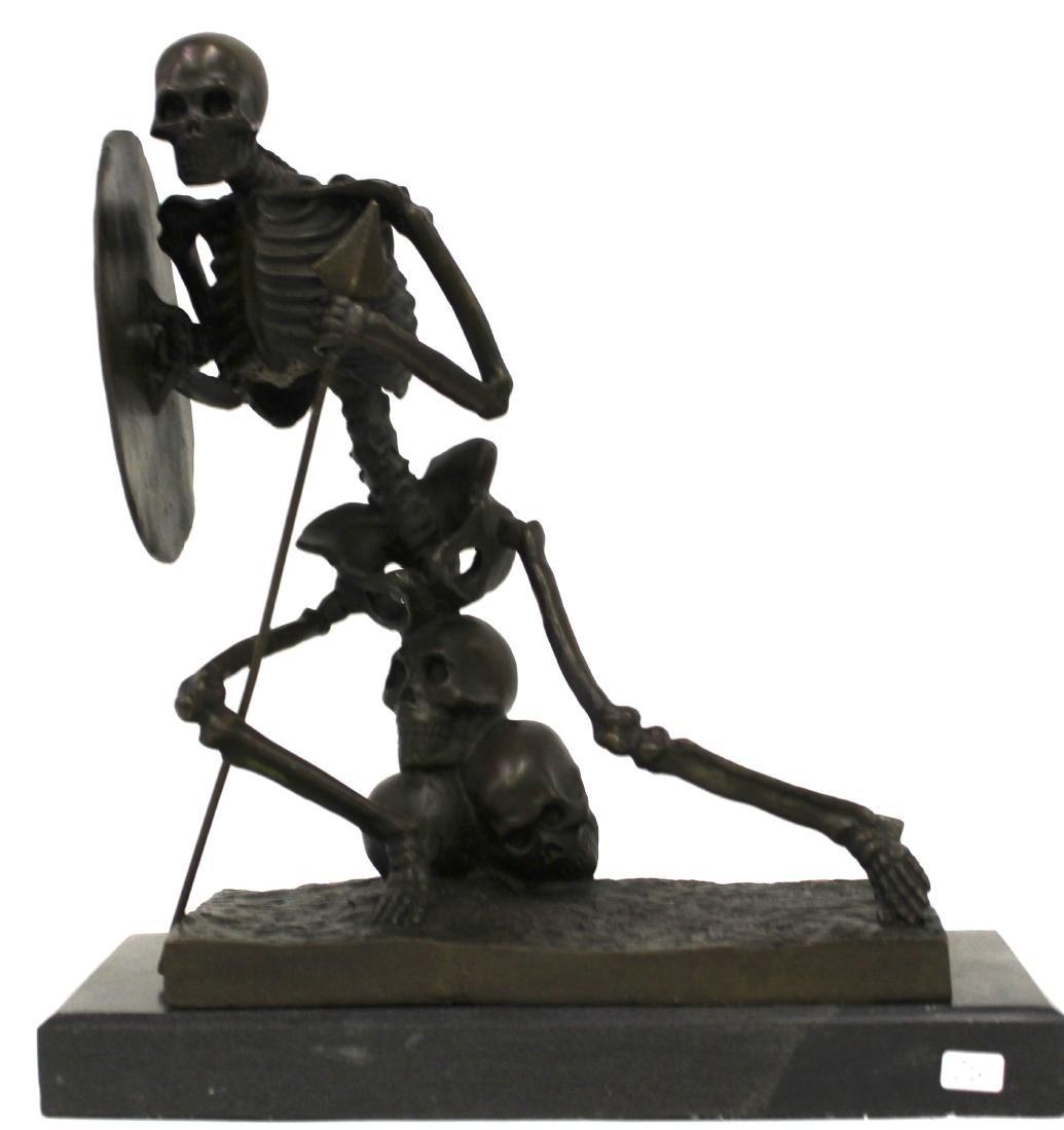 Bronze Skeleton Figure