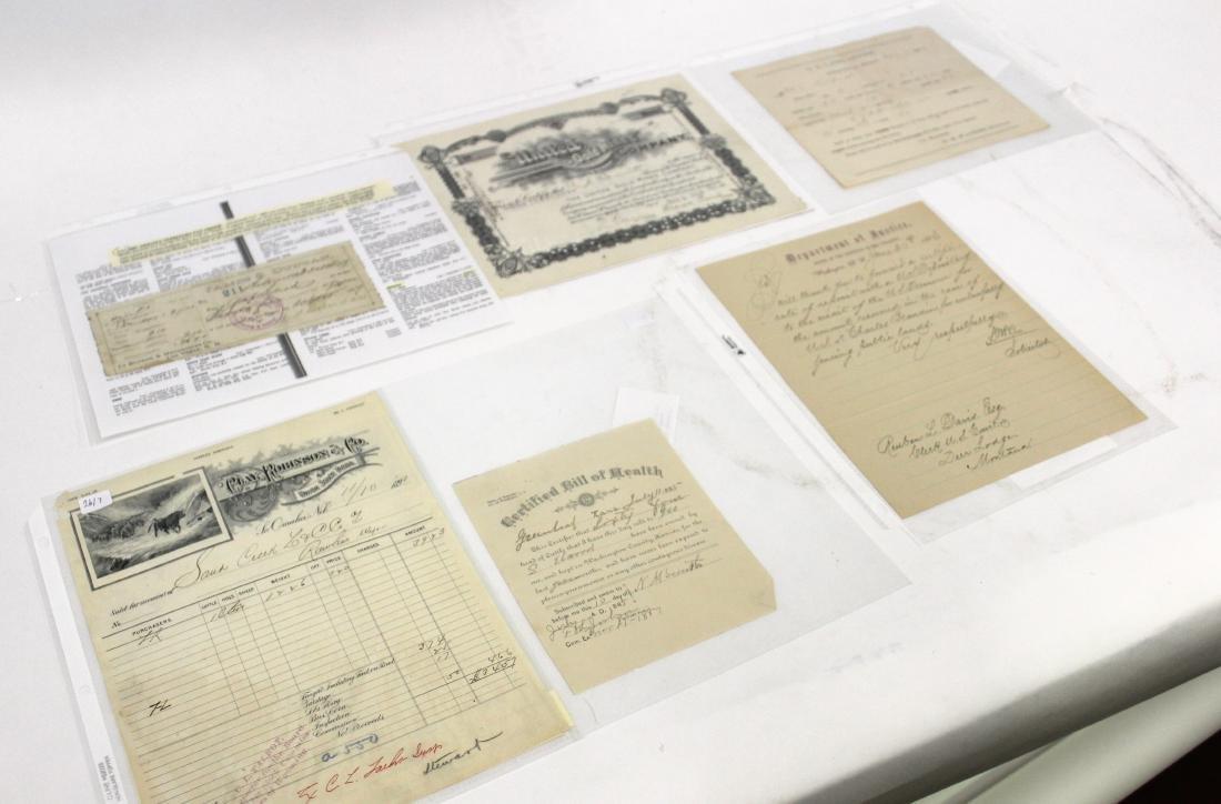 19th C. American Documents (6)