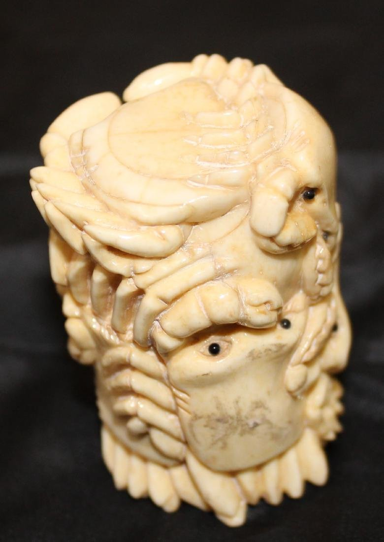 Carved Bone Octopus Box