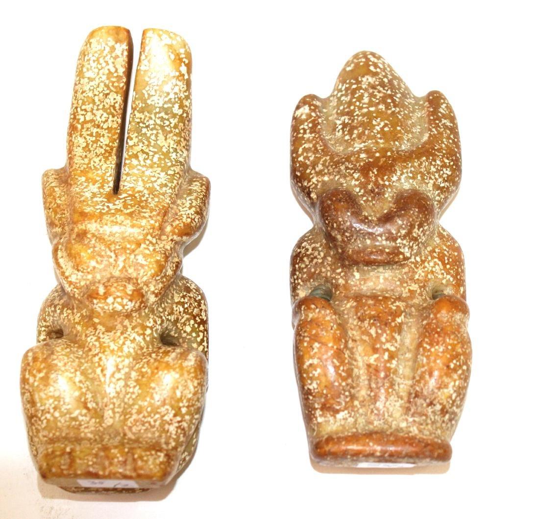 Columbian Soapstone Ethnographic Figures (2)