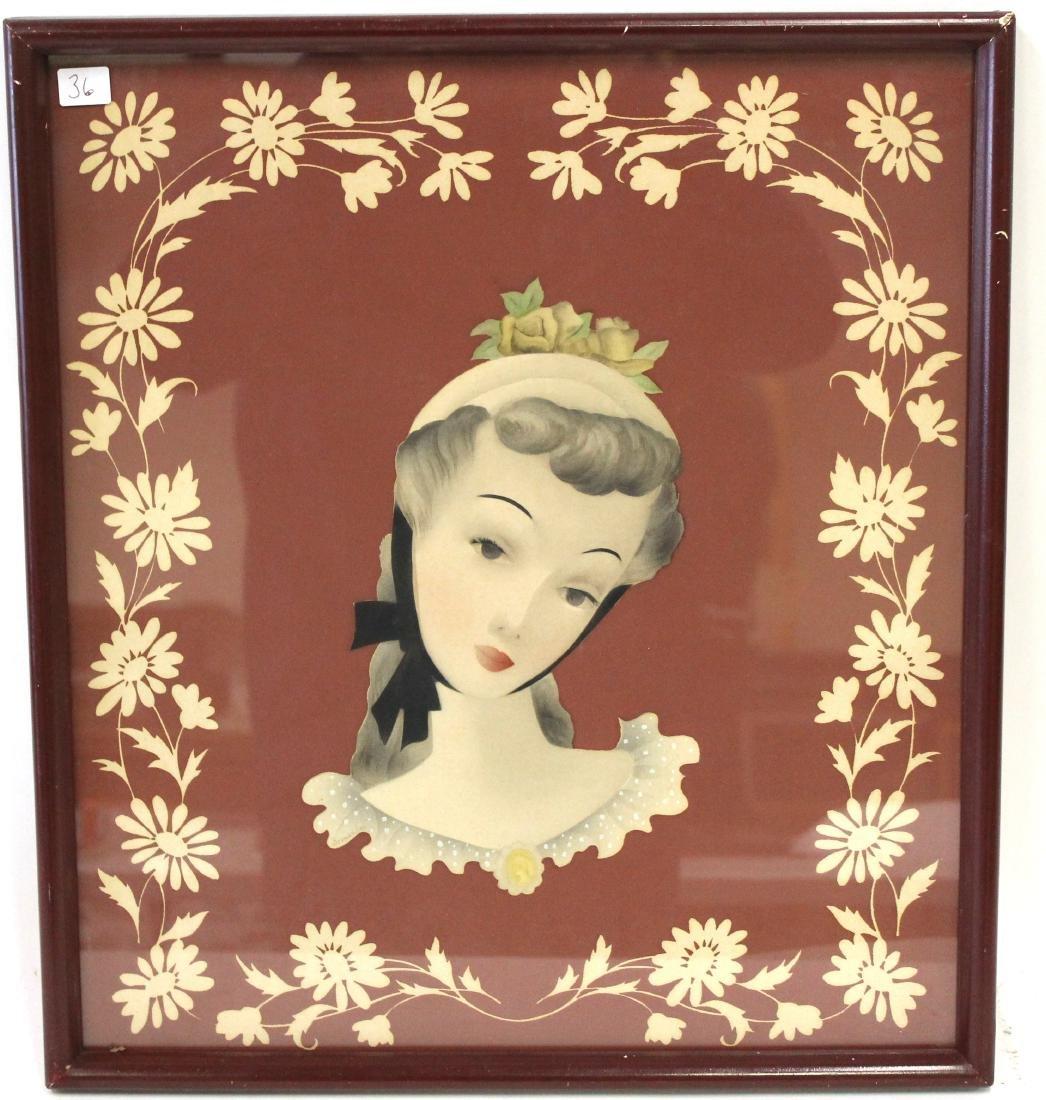 Plain Air Painting. Deco Girl