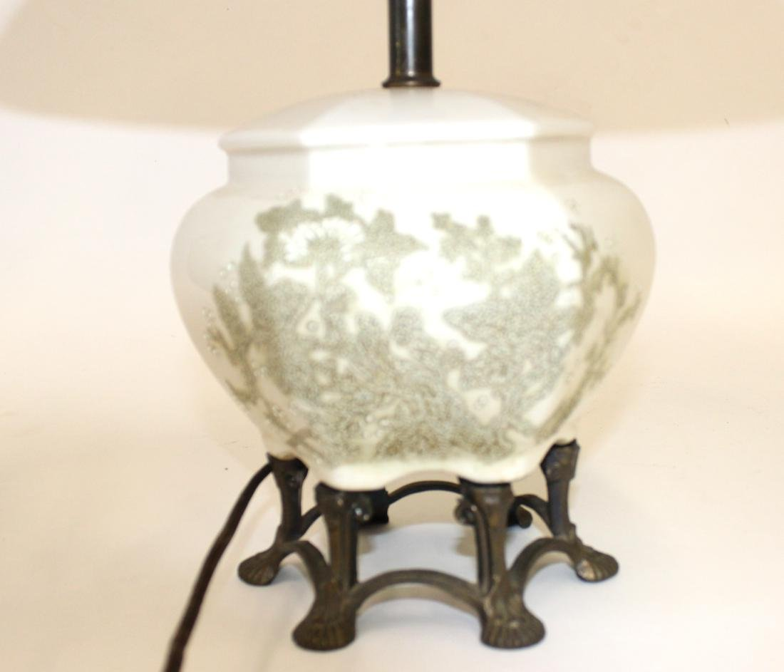 Vintage Coralene Decorated Oriental Lamp