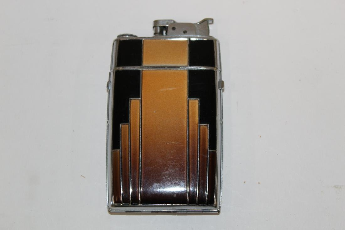 Evans Art Deco Cigarette Case with Lighter