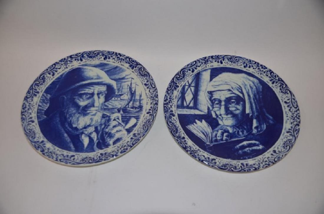 Pr. Boch Freres Delft   Blue and White Plates