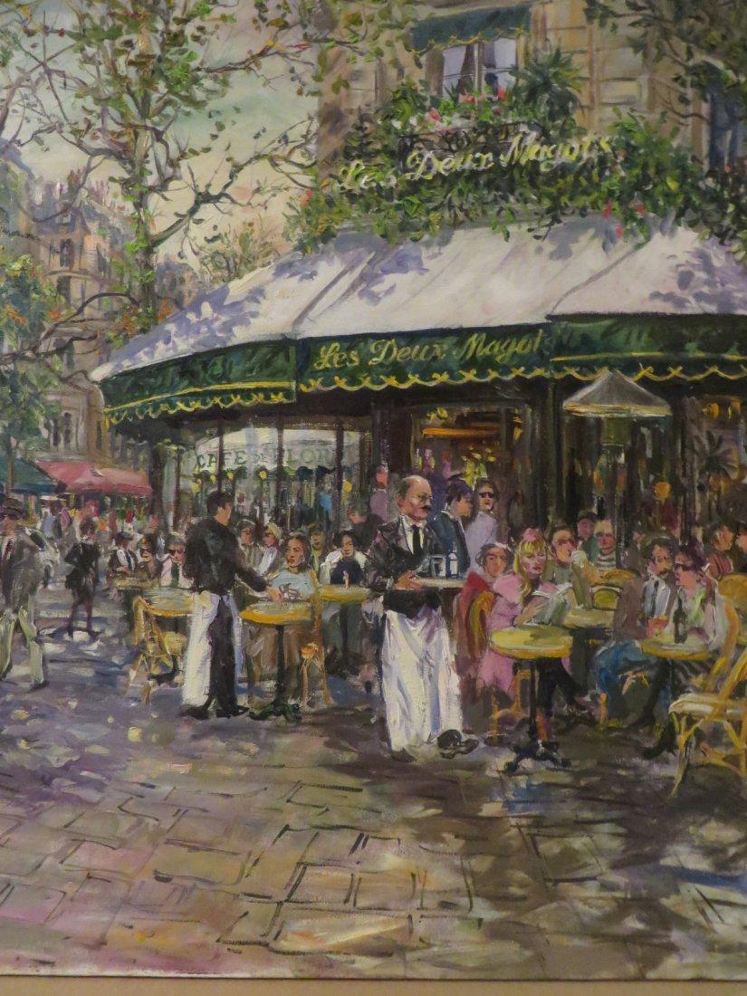 Tsar. Valery Tsarikovsky. Oil. French Cafe. Sgd. Tsar - 3