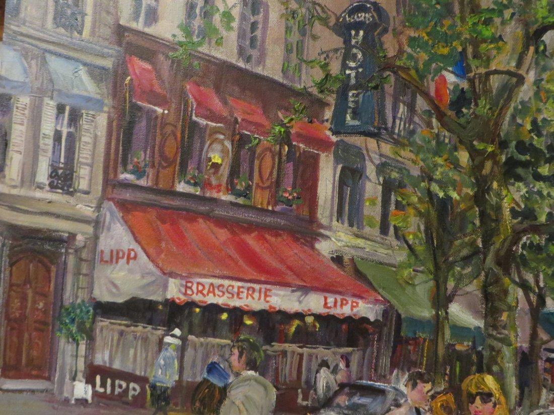 Tsar. Valery Tsarikovsky. Oil. French Cafe. Sgd. Tsar - 7