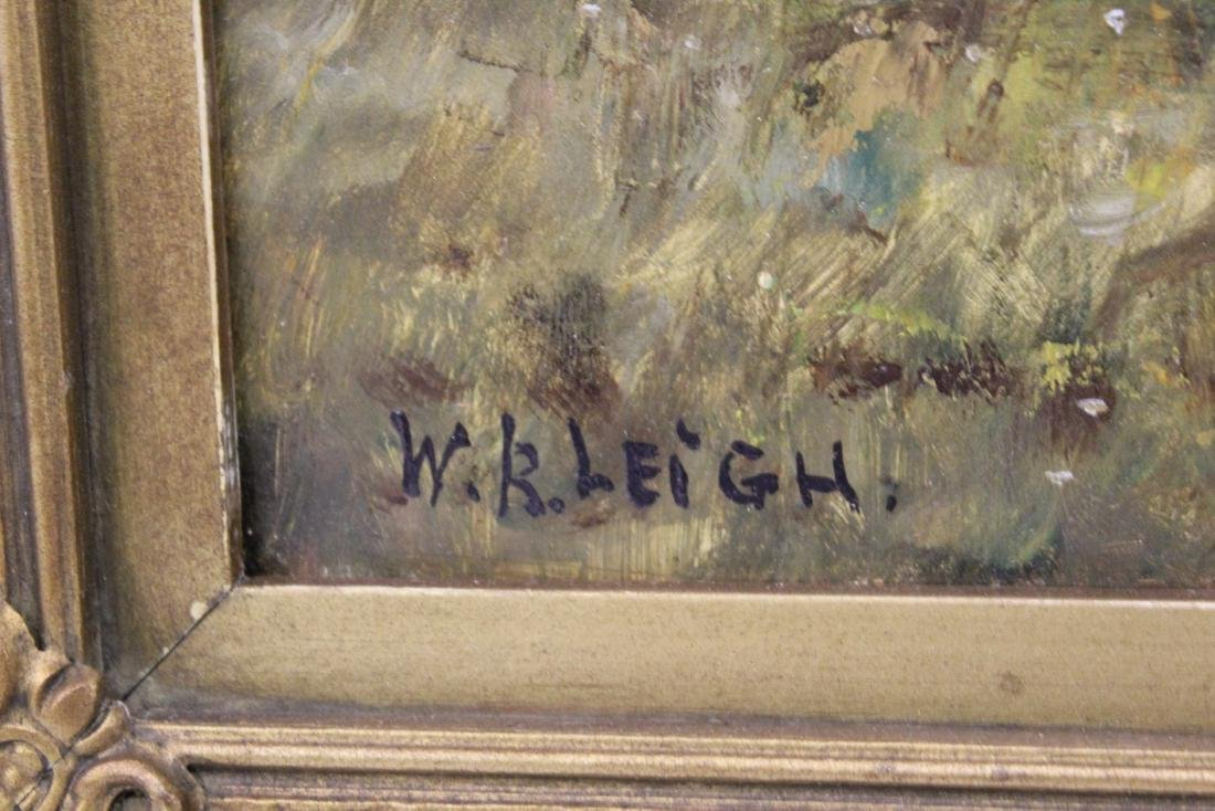 W.R. Leigh. Oil. Indian Warriors. Signed. - 3