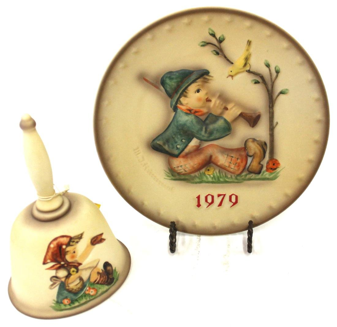 Hummel Plate and Hummel Bell
