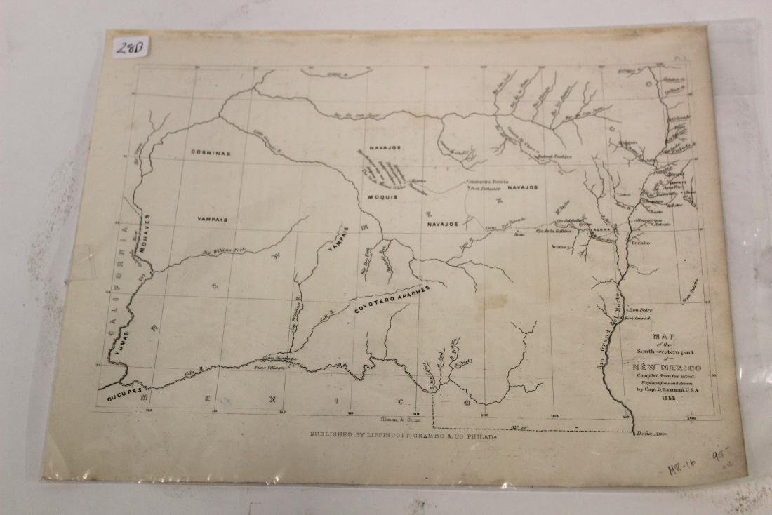 Eastman 1853 Map of New Mexico