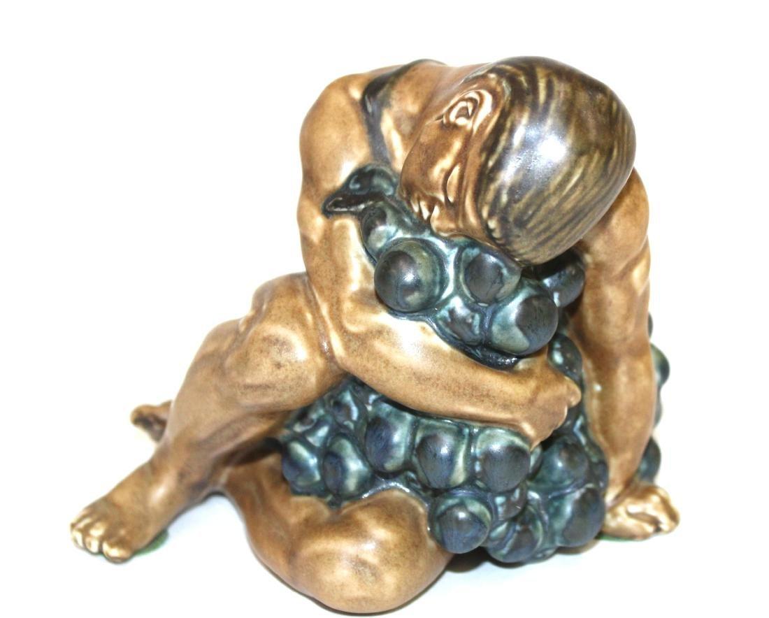 Bing & Grondahl Figure. Man on Grapes. Signed