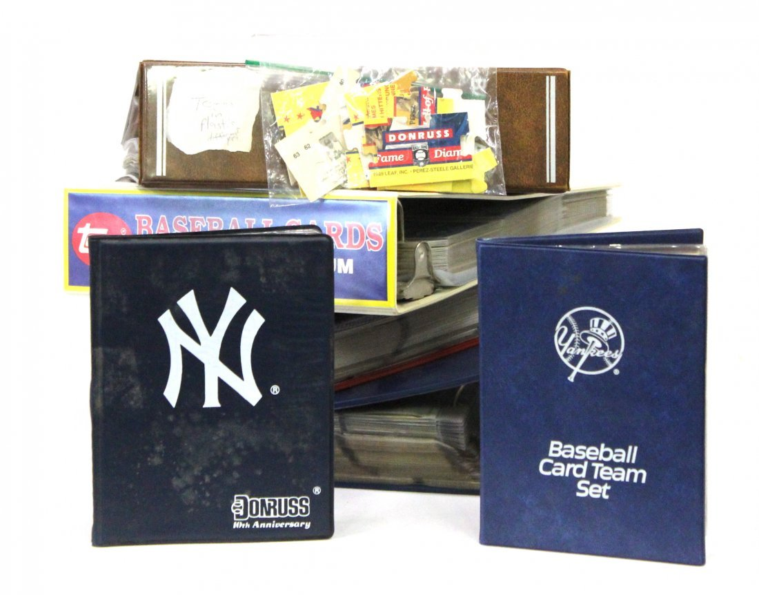 Baseball Albums (4) and Yankee Team Sets (2)