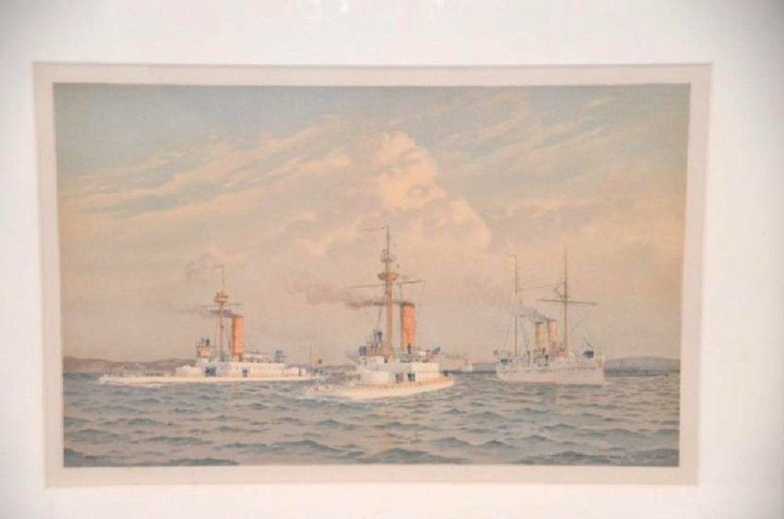 Fred Cozzens. Lithograph.  Ships. Armstrong. C. 1894 - 2