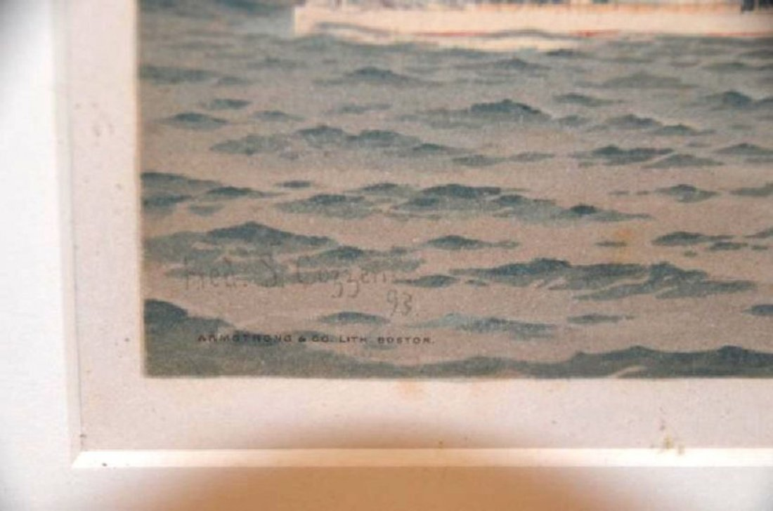 Fred Cozzens. Lithograph.  Ships. Armstrong. C. 1894 - 4