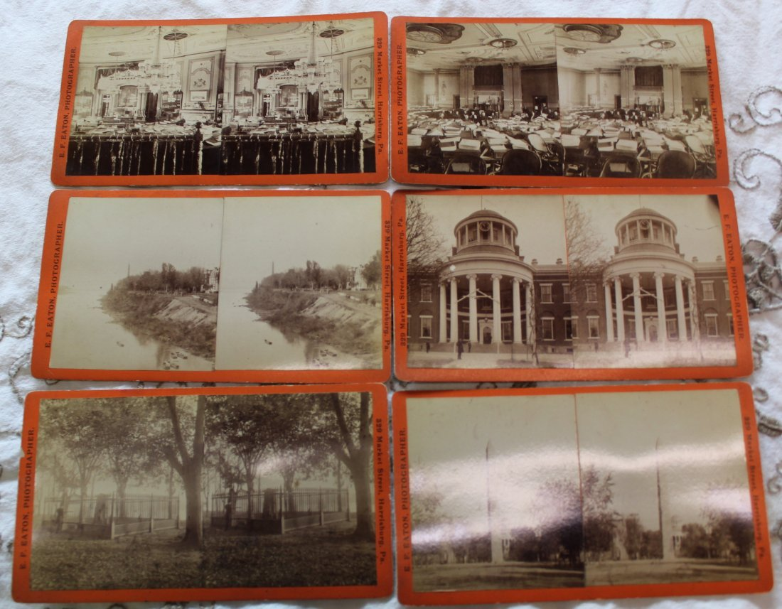 Stereoview Cards. E. F. Eaton Harrisburg, Pa. (6)