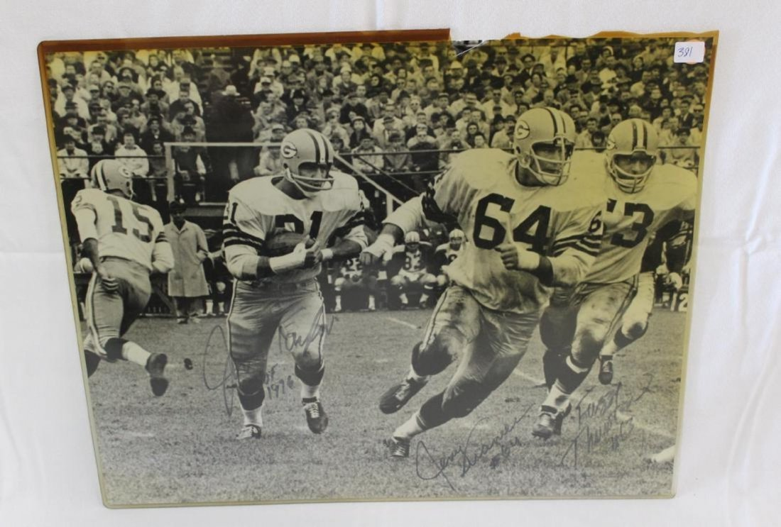 Autographed Football Photographs. Green Bay Packers (2)
