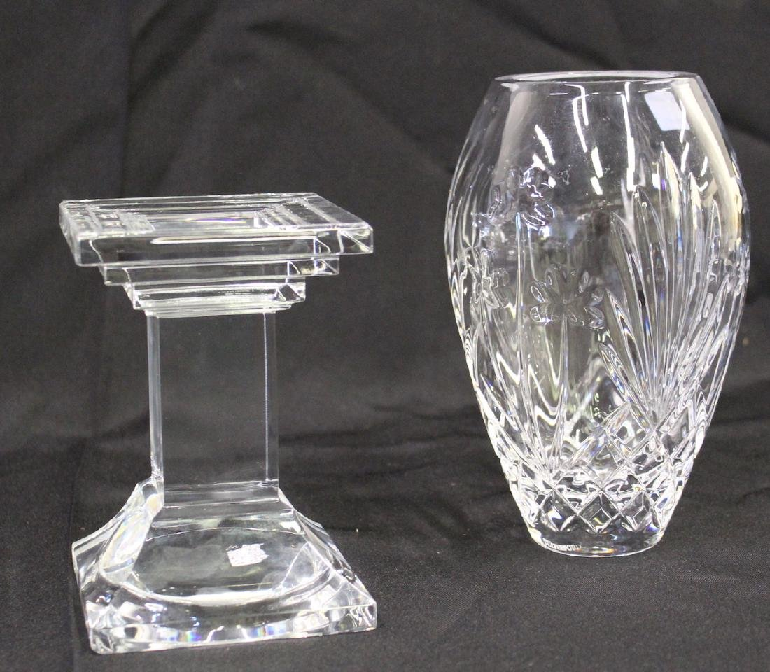 Waterford  Candle Holder & Vase