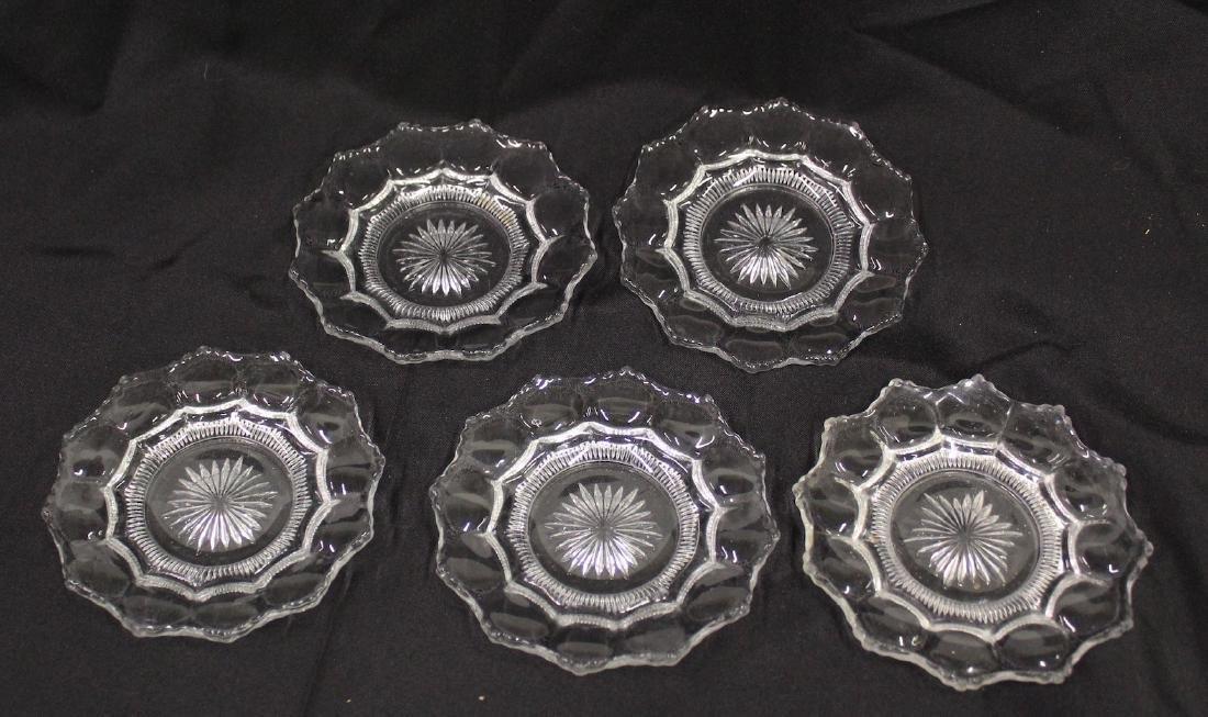 Heisey Bread Plates Colonial Patt. (5)
