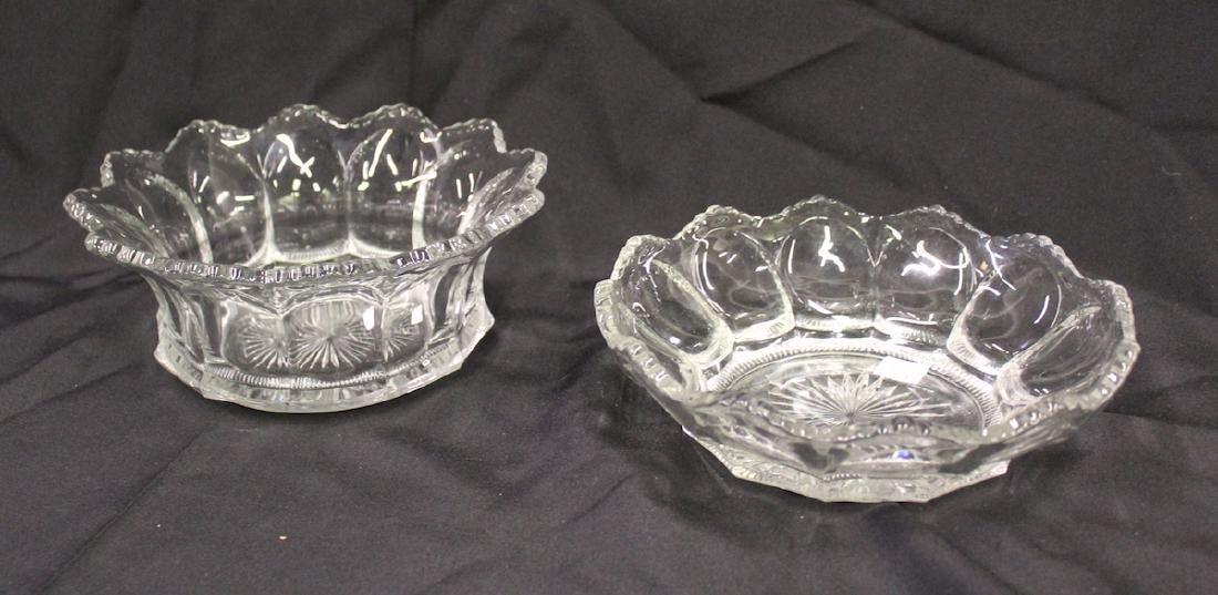 Heisey Large Bowls. Colonial Patt. (2)