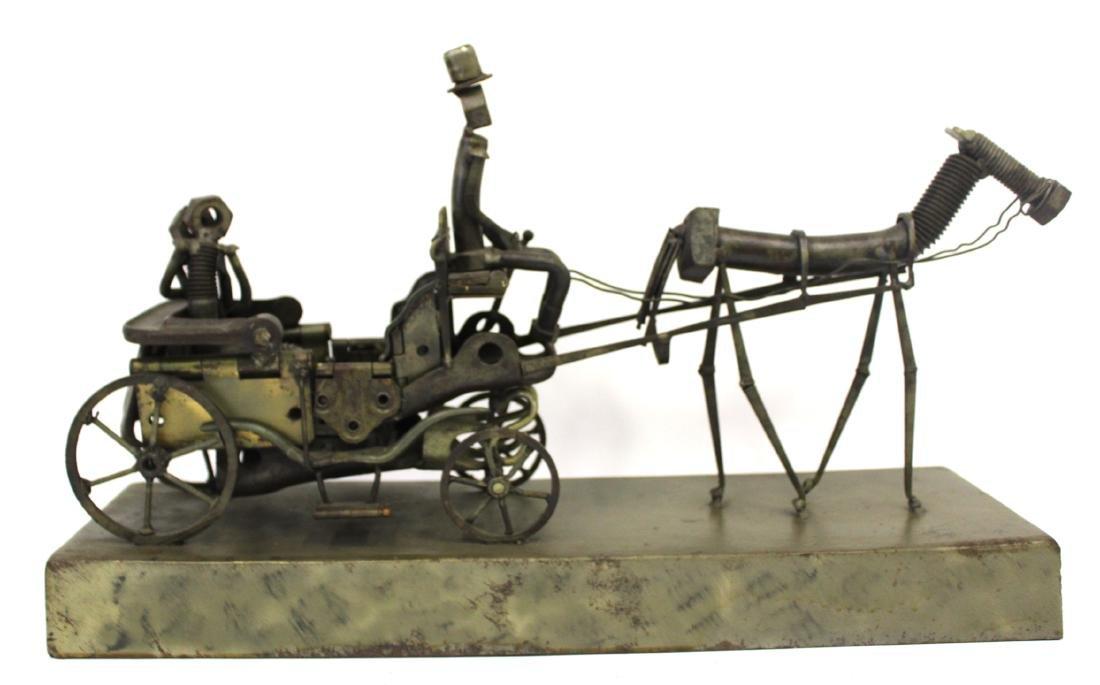 """Sculpture. """"Central Park"""" Sgd. McCabe '86 - 3"""