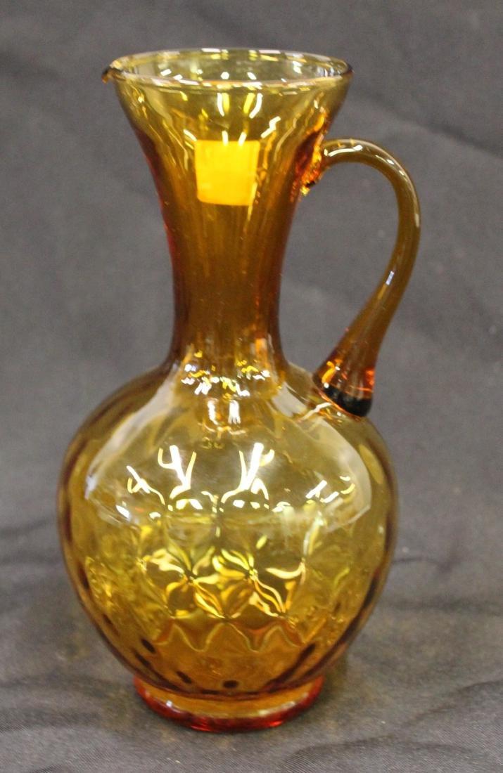 Fenton Vaseline Custard Glass Pitcher