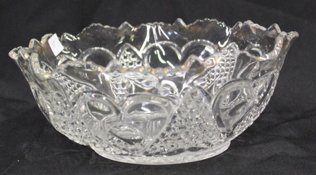 Early American Pressed Glass Bowl