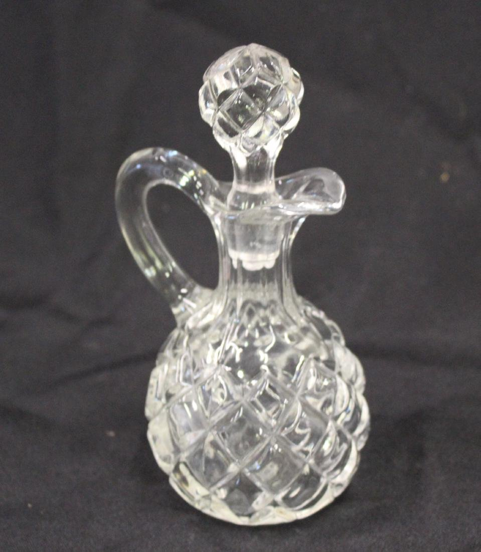 Early American Pressed Glass Decanter